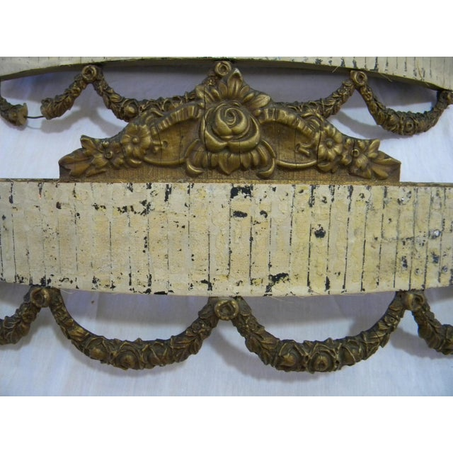 Antique Bed Corona Headboards - A Pair - Image 5 of 6