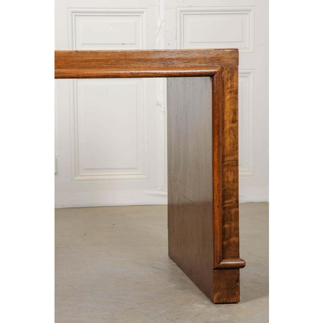 Brown French 20th Century Oak Art Deco Parson Desk For Sale - Image 8 of 12