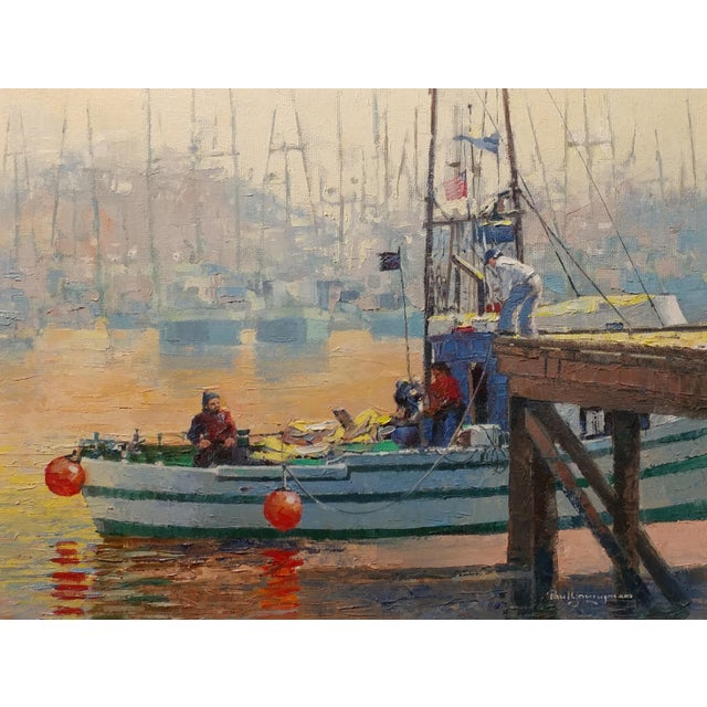 Impressionist Paul Youngman - Moss Landing,CA - Seascape Scene - Original Oil Painting Oil Painting on Canvas -Signed For Sale - Image 3 of 10