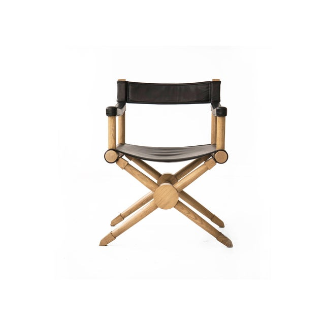 "Paul Radocanachi ""Rodo"" Cerused Oak Campaign Chair - Image 2 of 7"