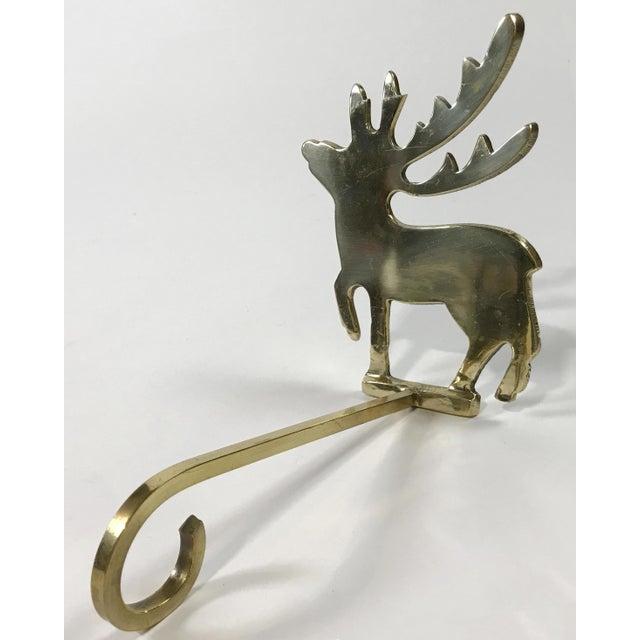 Brass Reindeer Stocking Hook For Sale - Image 4 of 4