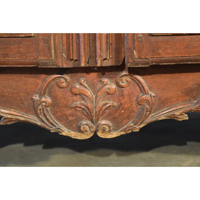 Late 18th Century 18th Century Louis XV French Pine Armoire For Sale - Image 5 of 6