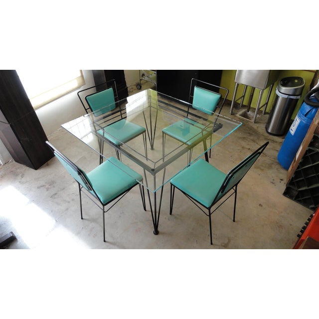 Atomic Age Mid-Century Iron Dining Set - Image 2 of 11