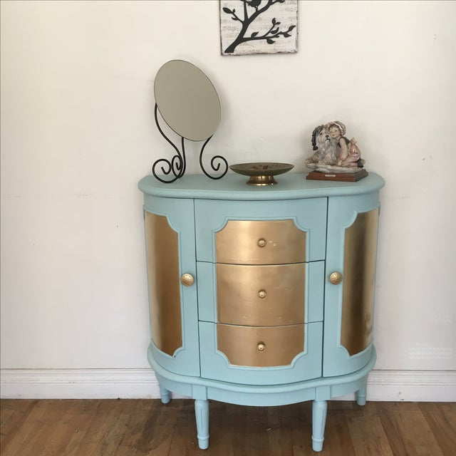 Demilune Console Table or Storage Cabinet - Image 9 of 9