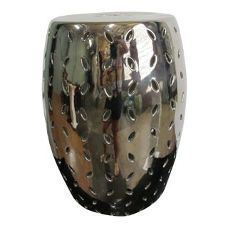 Silver Shine Coin Carving Garden Stool For Sale