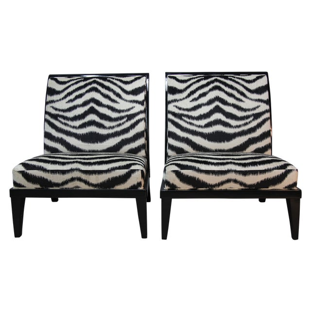 Holly Hunt Slipper Chairs - Pair - Image 1 of 9