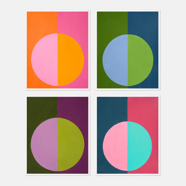 """""""Forevers I"""" Large White Framed Print Set by Stephanie Henderson - 4 Pieces For Sale In Austin - Image 6 of 6"""