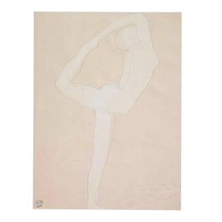 Auguste Rodin Musee Rodin Print of Dancer - Framed For Sale