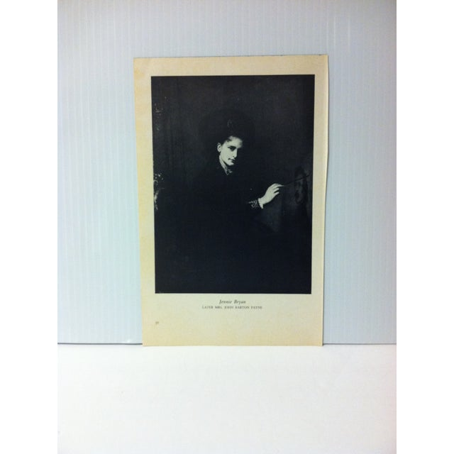 """1954 """"Jennie Bryan"""" Famous Figure of the 19th Century Print For Sale - Image 4 of 4"""