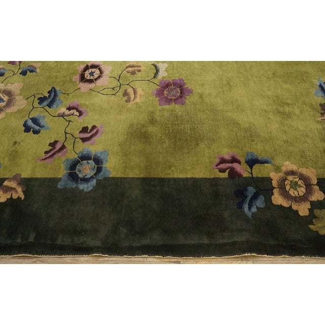 Antique Chinese Art Deco Rug For Sale - Image 10 of 13