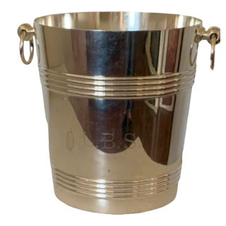 Mid-Century Modern French Christofle Champagne Bucket For Sale