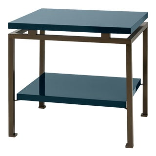 Veere Grenney Collection Portsea Side Table in Indigo Blue For Sale