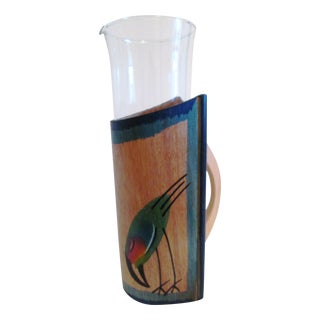 Toucan Bird Cocktail Carafe, 2-Pcs For Sale