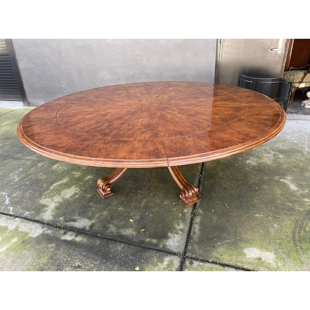 1970s Thierin Round Dining Table With Leaves For Sale - Image 13 of 13