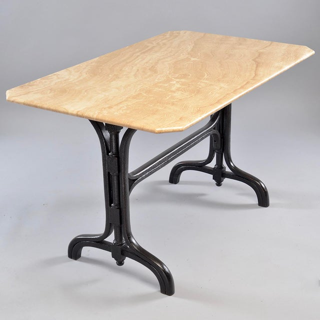 Pub Table With Marble Top and Ebonised Bentwood Base For Sale - Image 4 of 12