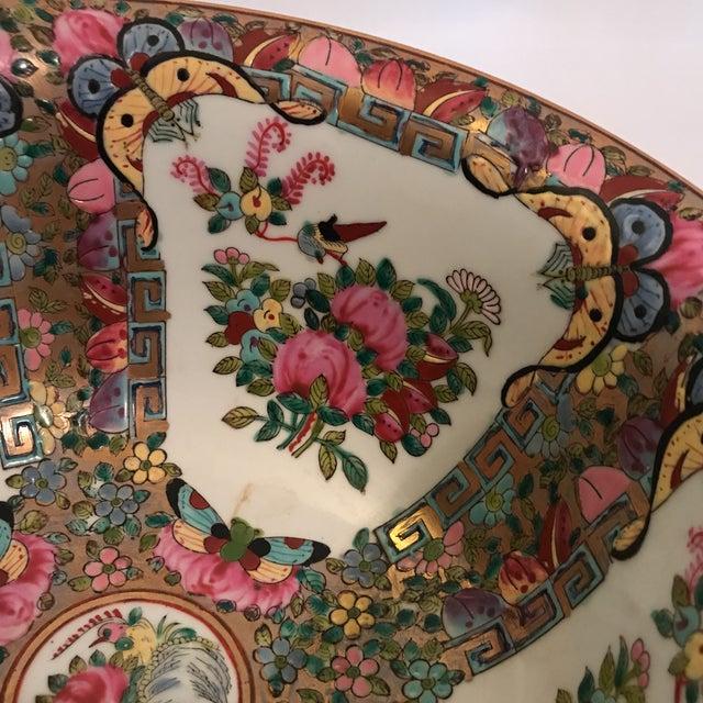 Rose Medallion Bowl For Sale - Image 9 of 11