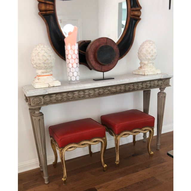 2010s Regency Style Ribbon Taboret Bench by Randy Esada Designs for Prospr - a Pair For Sale - Image 5 of 8