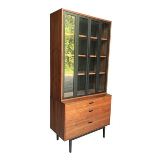 Exceptional Walnut Compact Hutch Jack Cartwright Founders Furniture For Sale