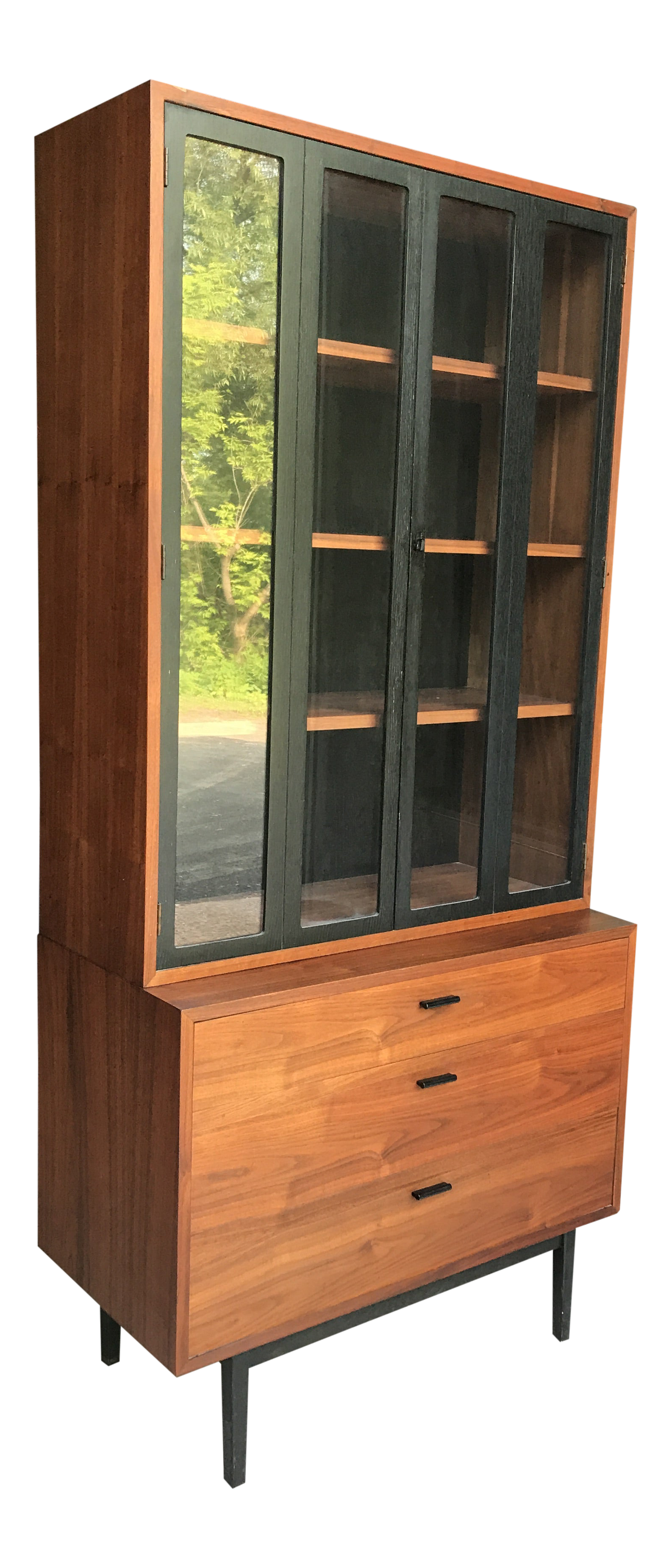 Exceptional Walnut Compact Hutch Jack Cartwright Founders Furniture