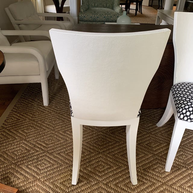 White Made Goods Faux Shagreen Side Chairs- a Pair For Sale - Image 10 of 11