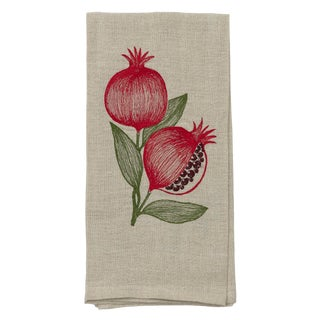 Cottage Pomegranate Tea Towel For Sale