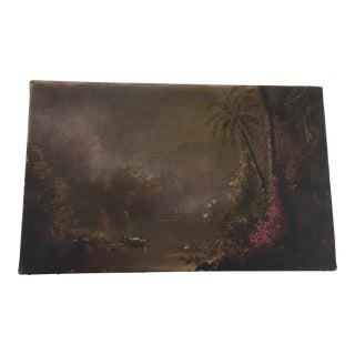 Late 19th Century Antique Norton Bush Landscape Painting For Sale