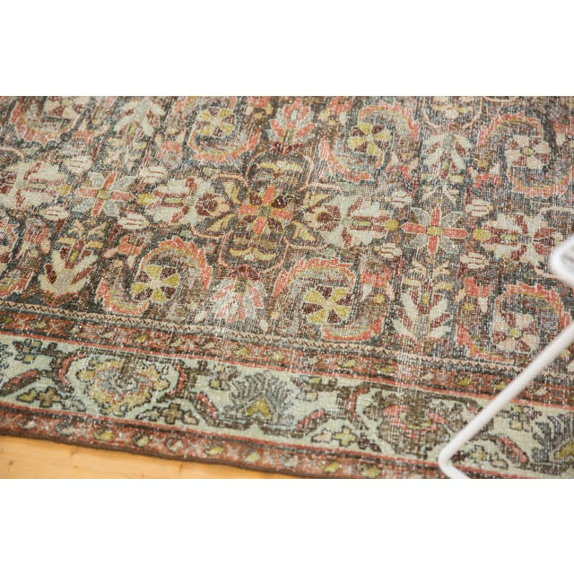 "Vintage Distressed Mahal Carpet - 5'5"" X 10' For Sale - Image 9 of 13"