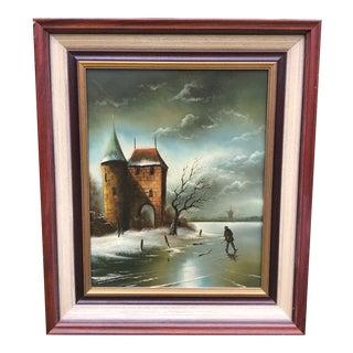 20th Century Original Painting by Dutch Artist Th. Selhorst Sr. For Sale