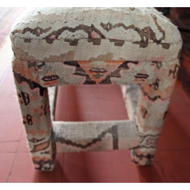 Late 20th Century Late 20th Century Kilim Upholstered Bench For Sale - Image 5 of 7