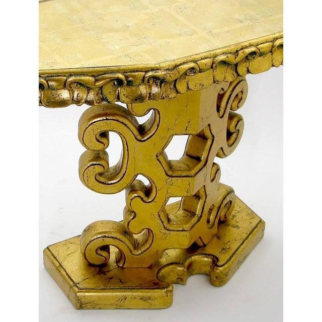 Italian Gilt Console Table with Églomisé Glass Top For Sale - Image 4 of 8