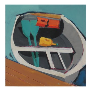 """Oil on Birch Panel Painting """"Boat I"""""""