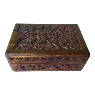Antique Carved Trinket Box-India For Sale