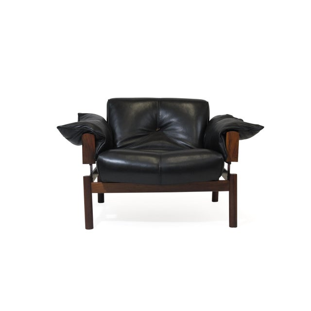 Brazilian modernist sofa and chair designed by Percival Lafer. Model MP-101, 103 is Lafer's first sofa design created in...