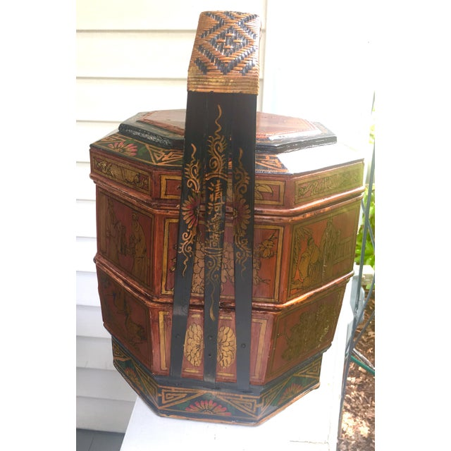 Asian Chinese Wedding Basket For Sale - Image 3 of 12
