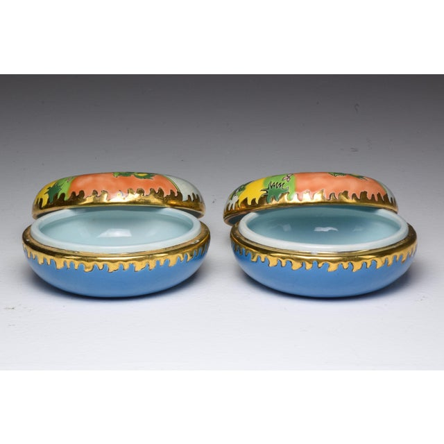 Pair of 20th Century French Trinket or Jewelery Longwy Boxes For Sale - Image 12 of 13