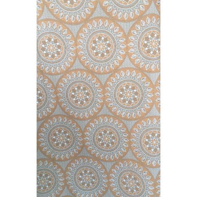 Duralee Medallion Tangerine Fabric - 5 Yards - Image 3 of 4