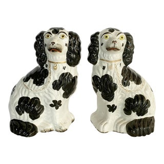 19th Century English Staffordshire King Charles Spaniels For Sale