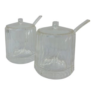 Vintage Acryllic Lidded Jars - a Pair For Sale