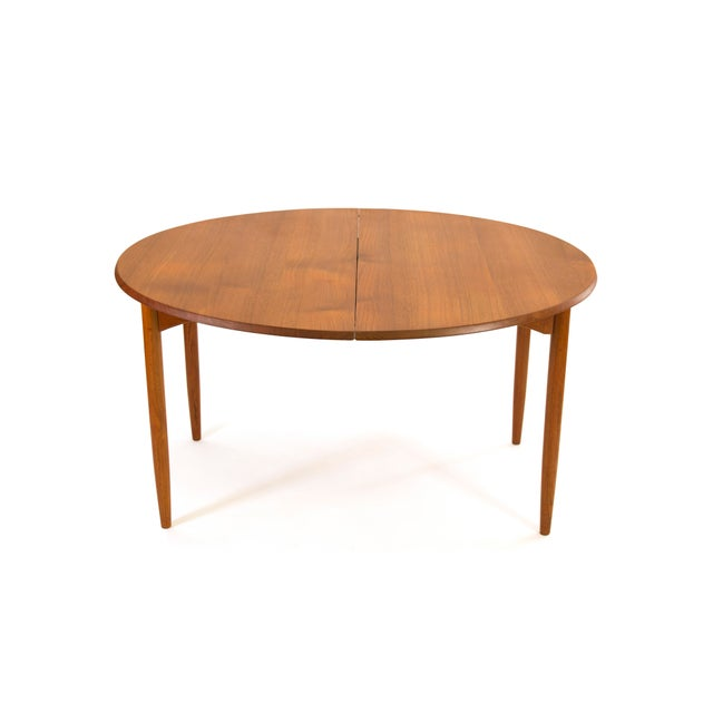 Arne Vodder Sibast - Mid- Century Solid Teak Dining Table With 2 Leaves. For Sale - Image 9 of 12