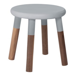Peewee Kids Chair in Walnut With Gray Finish For Sale