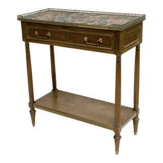 Louis XVI Style Marble Top Console For Sale