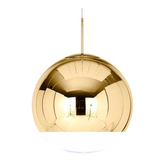 Tom Dixon Gold Mirror Ball Pendant