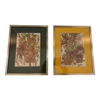 1970s Vintage Signed Lawrence Reiter Lithographs - A Pair For Sale