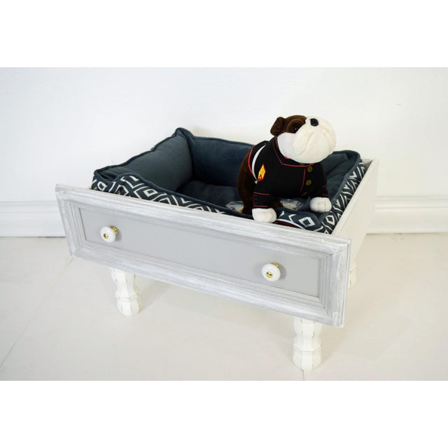 Late 20th Century Gray and White Mounted Drawer/Storage Box - Pet Bed For Sale - Image 5 of 12