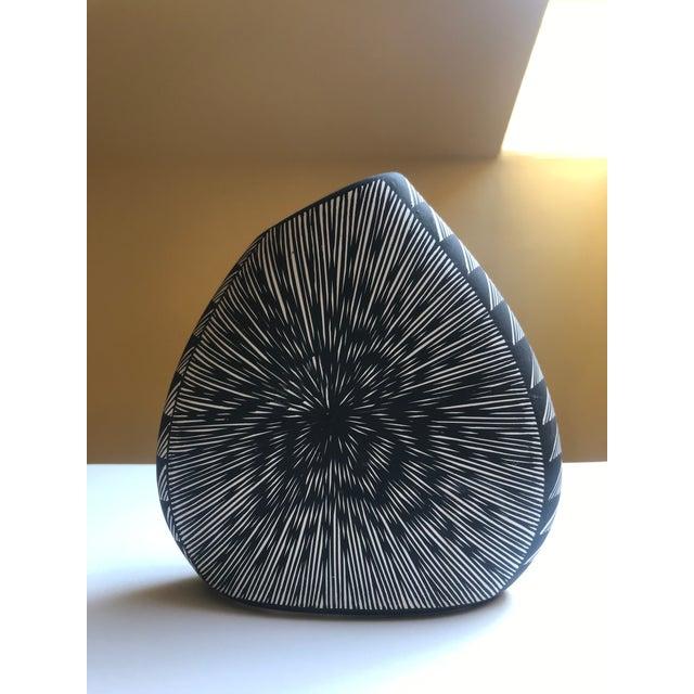 Black Acoma Pueblo Pottery, Signed Delma Vallo For Sale - Image 8 of 8