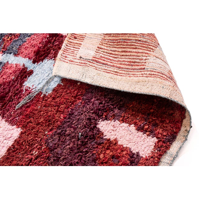 Contemporary Contemporary Moroccan Geometric Rug - 4′ × 4′10″ For Sale - Image 3 of 6