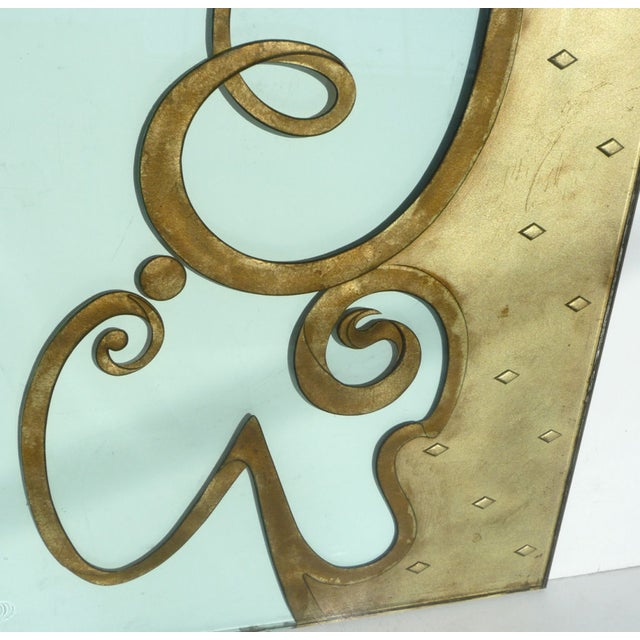 Architectural Etched & Gilded Glass Panels - Image 10 of 10