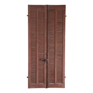 Antique French Shutters, A Pair For Sale