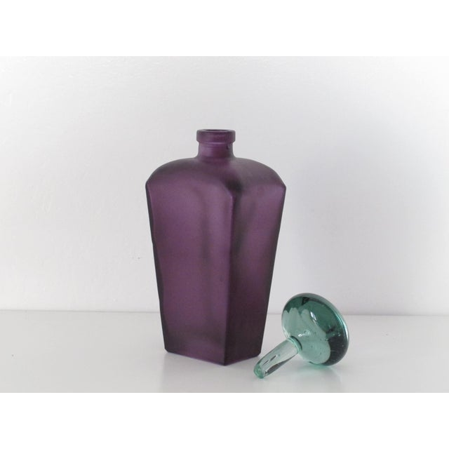 Purple Glass Decanter - Image 4 of 4