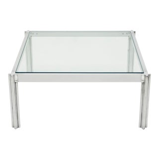 Chrome Aluminium George Ciancimino Square Coffee Table 1975 For Sale